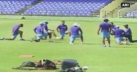 Team India's Practice Session Ahead Of Second Warm-up Match in Saint Kitts