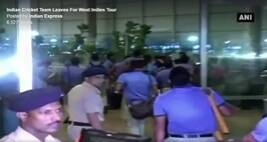 Indian Cricket Team Leaves For West Indies Tour