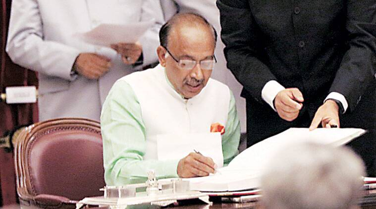 Vijay Goel at the Rashtrapati Bhawan. (Source: Express photo by Neeraj Priyadarshi)