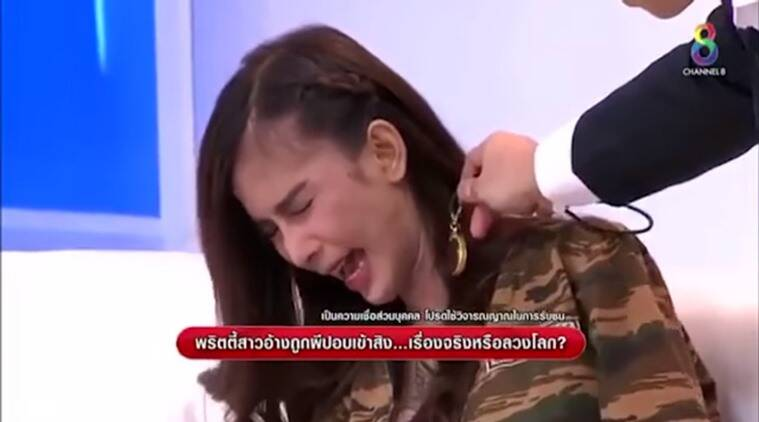 thai model possessed spirit video, bizarre spirit videos, Thai models, Thai models bizarre, Thai funny videos, funny videos, spirit videos, possessed women videos, Thailand, Thailand videos, Thailand funny, Thailand model possessed videos, Thailand model possessed on TV