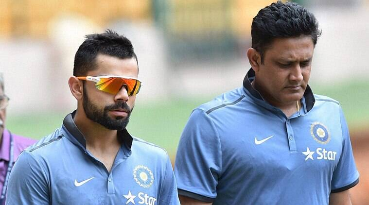 Image result for anil kumble with kohli