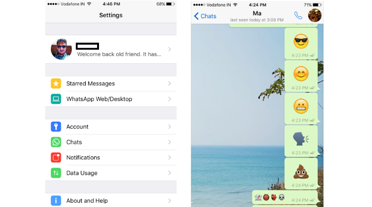 WhatsApp update for iOS gets larger emojis, faster loading