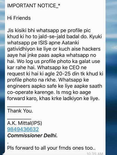 WhatsApp, WhatsApp scam, WhatsApp Hoax, WhatsApp ISIS message, WhatsApp profile pictures, WhatsApp profile pic scam, WhatsApp scam messages, technology, technology news