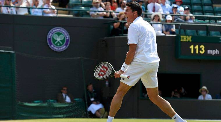 Wimbledon, Wimbledon 2016, Wimbledon men's singles quarterfinal, Wimbledon men's singles quarterfinal results, Wimbledon Milos Raonic, Wimbledon Sam Querry, Milos Raonic, Sam Querry, Tennis, latest News, Sports News