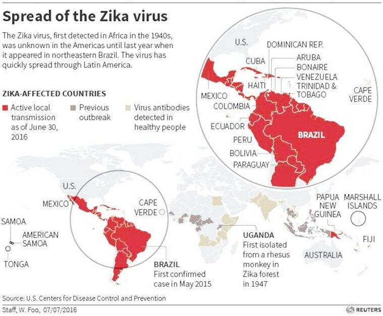 UPDATE Spread of the Zika virus EPS C