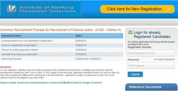 ibps, ibps.in, ibps clerk form, ibps recruitment, www.ibps.in, ibps clerk cwe VI, IBPS Clerk CWE 6, ibps bank exam, ibps notification, ibps recruitment, ibps how to apply, bank job, bank exam, govt job, bank vacancy, institute of banking and personnel selection, job posting, bank job posting, recruitment news, education news