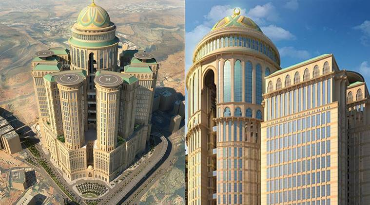 world's largest hotel Abraj Kudai hotel, world's largest hotel in mecca, hotel .5 billion, Dar Al-Handasah, hotels in mecca, hotels in saudi arabia