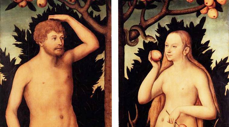 adam and eve by Lucas Cranach_759_WC