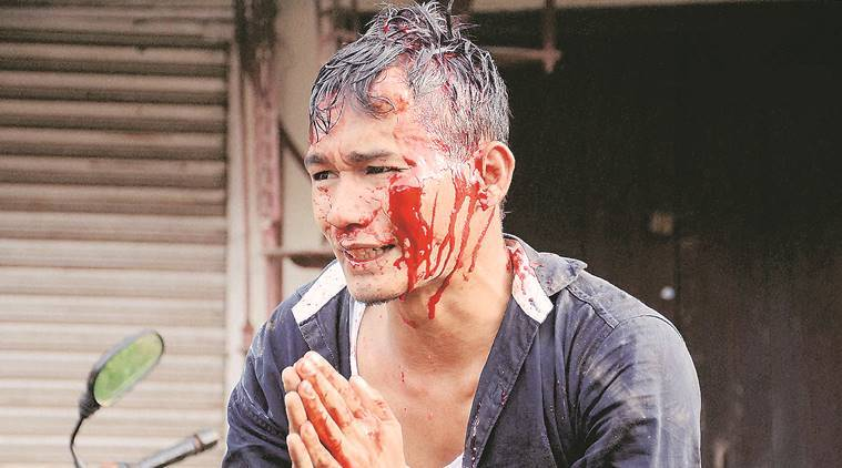 Agartala: An injured members of Indigenous People's Front of Tripura (IPFT) during a clash with local Bengali people following a rally in Agartala on Tuesday. IPFT has been demanding for separate statehood - Tipraland. PTI Photo   (PTI8_23_2016_000214B)