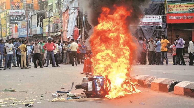 Agartala, tripura, tripura curfew,  Agartala curfew, ipft, Twipra land, Agartala ethnic clashes, Agartala clashes, CPM, BJP,  CPM blames BJP, Clashes between tribals and bengalis, india news