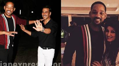 Will Smith drops in at Akshay Kumar's party and Twinkle Khanna makes a joke
