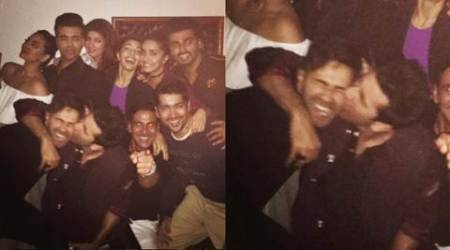 You will never believe who Ranbir Kapoor was seen kissing at a party, see pic