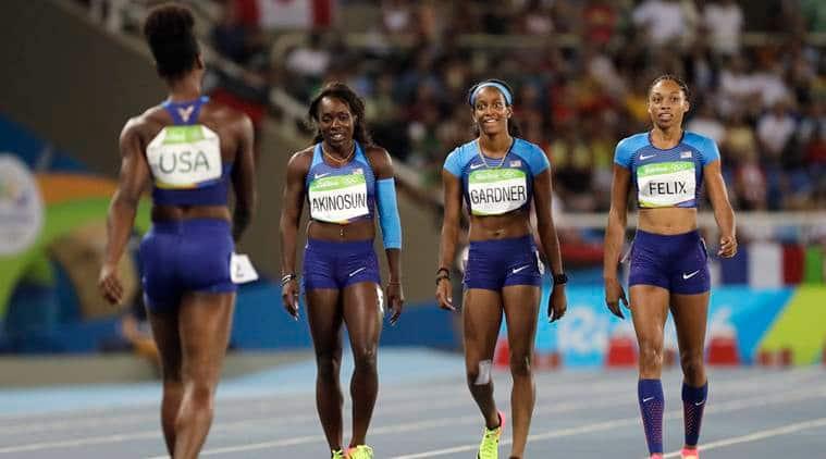 Allyson Felix, US relay team, US 4x100m relay, US relay team Rio, Rio 2016 Olympics, Rio Olympics, Rio, Olympics, relay
