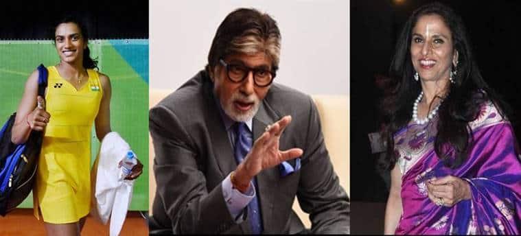 PV Sindhu, Sindhu, Olympics, Rio Olympics, Sindhu Olympics, Olympics badminton, Amitabh Bachchan, Shobhaa De, news, Bollywood news, latest news, India news
