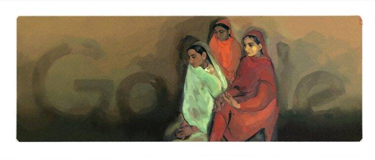 Google Doodle honors Amrita Sher-gil