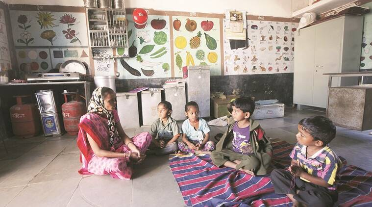 gujarat anganwadis, gujarat CAG, Comptroller and Auditor General of India, dirty anganwadi, condition of anganwadi, dirty ponds, anganwadi education, indian express news, gujarat news, india news