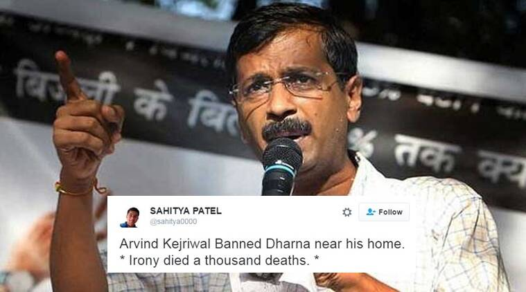 The city administration has imposed a ban on protests outside Delhi chief minister Arvind Kejriwal's residence