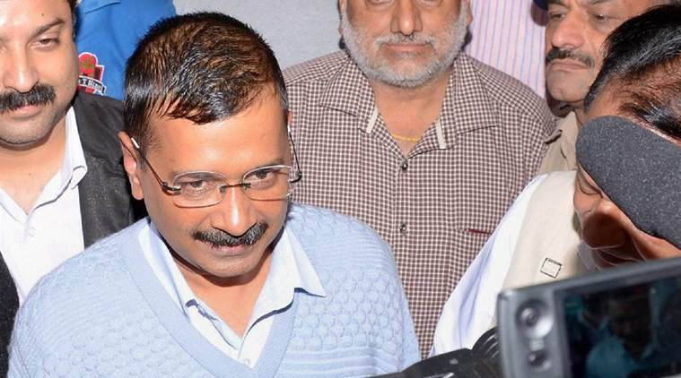 Dharamshala: Delhi Chief Minister Arvind Kejriwal interacts with media at Circuit House, Dharamshala as he arrived here after finishing his 10 day meditation camp at VIPASNA, Dharamkot, near Dharamshala on Thursday. PTI Photo (PTI8_11_2016_000197B)