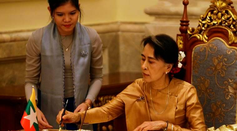 myanmar, aung san suu kyi, myanmar leader, suu kyi, china, myanmar ethnic groups, myanmar dam project, myanmar news, world news, latest news