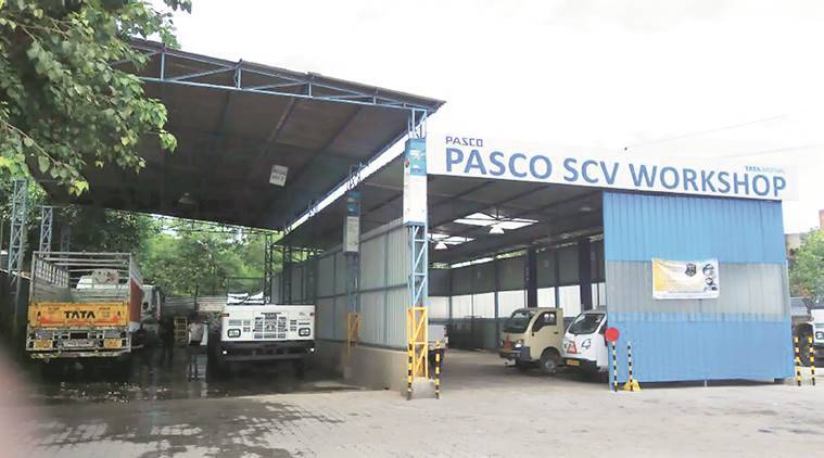 PASCO car showroom in Industrial Area Phase 1, Chandigarh.  Express Photo by Jasbir Malhi