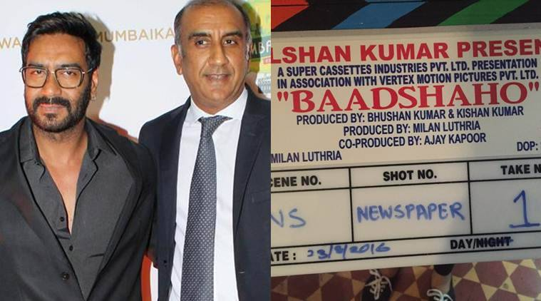 The shooting of actors Ajay Devgn and Emraan Hashmi starrer Baadshaho, which is being directed by Milan Luthria, has begun.