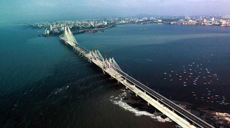 Maharashtra, Maharashtra news, MSRDC, Arabian Sea, Arabian Sea indian government land, Versova-Bandra Sea Link, devendra Fadnavis, Indian express