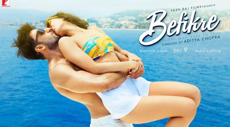 Befikre poster: Ranveer Singh and Vaani Kapoor continue with their kiss-athon.