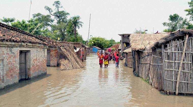 bihar, bihar flood, Farakka barrage, Farakka barrage responsible, MP dam, madhya pradesh dam, flood in bihar, nitish kumar, bansagar dam, reason of bihar flood, bihar flood reason, uttar pardesh flood, flood, indian express news, india news