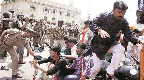 Lucknow at standstill as BJP workers clash with police outside Assembly
