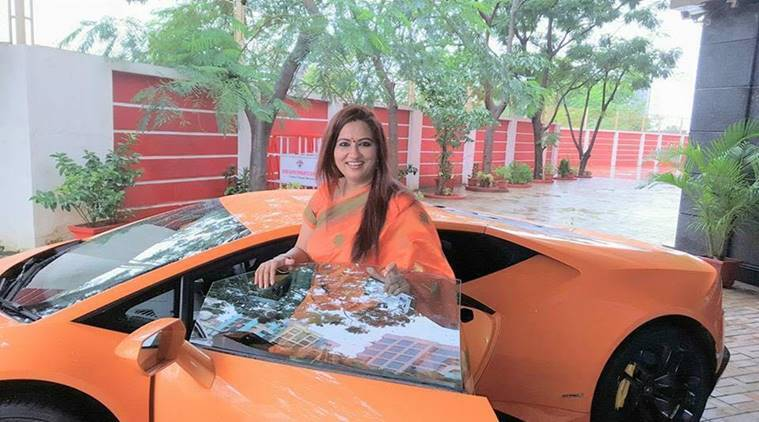 BJP MLA's wife rams brand new Lamborghini into auto