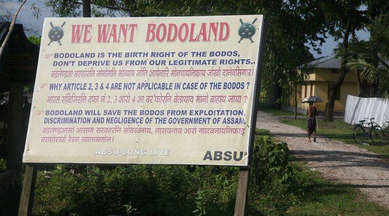 bodoland, Bodo people, Bodoland statehood, Bodoland statehood movement, Bodoland statehood agitation, Bodo Students Union, ABSU, National Democratic Front of Boroland Progressive, People's Joint Action Committee for Bodoland Movement, assam national highways, assam NH, assam NH blockade, india news