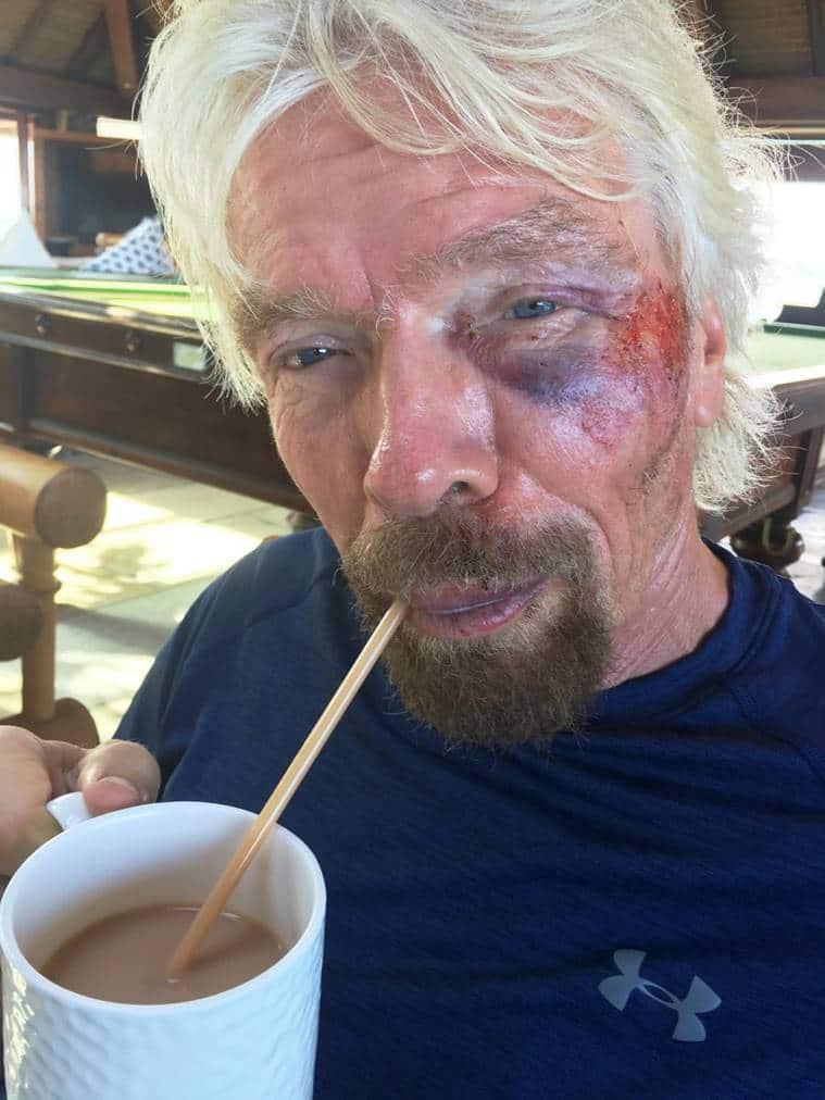 Richard Branson, Richard Branson crash, Richard Branson accident, Virgin Founder crash, Virgin founder accident, Richard Branson news