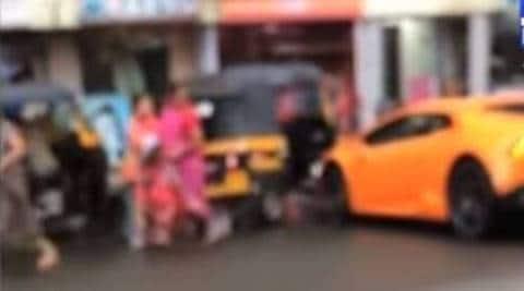 BJP MLA's wife rams brand new Lamborghini into auto
