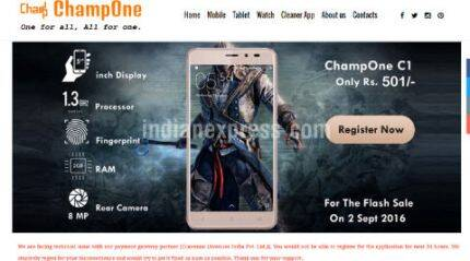 ChampOne C1 smartphone at Rs 501: What's it all about