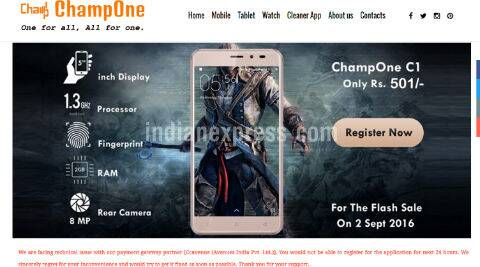 ChampOne, Rs 501 smartphone, ChampOne C1 Rs 501, ChampOne C1, ChampOne C1 price, ChampOne C1 features, ChampOne C1 specifications, Docoss, Freedom 251, Namotel Acche din, smartphones, technology, technology news