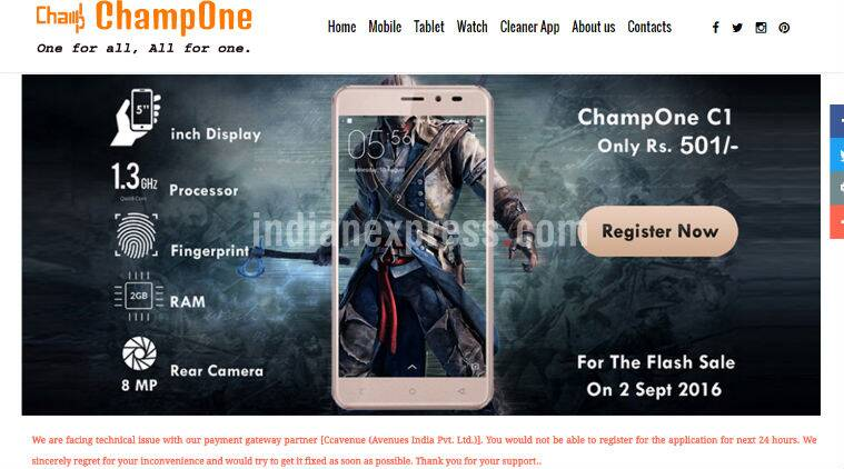 ChampOne, Rs 501 smartphone, ChampOne S1 Rs 501, ChampOne C1, ChampOne C1 price, ChampOne C1 features, ChampOne C1 specifications, Docoss, Freedom 251, Namotel Acche din, smartphones, technology, technology news