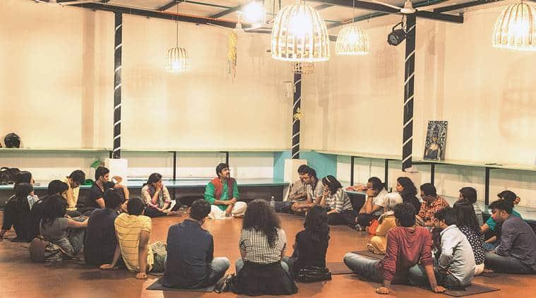 dikshant global school, chandigarh, chandigarh news, dikshant global school vikram sridhar workshop, vikram sridhar storytelling workshop, vikram sridhar bangalore theatre group, india news