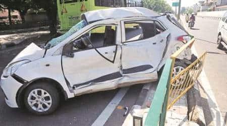 Chandigarh: Two killed, three injured as midi-bus hits acar