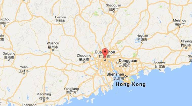 China Typhoon Affected Lakh People The Indian Express - Zhaoqing map