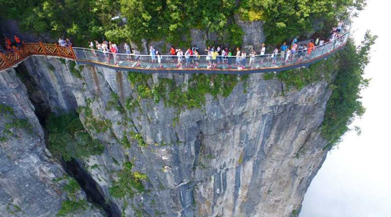 A Walk In The Clouds China Opens New Glass Skywalk The Indian - China opens worlds longest skywalk