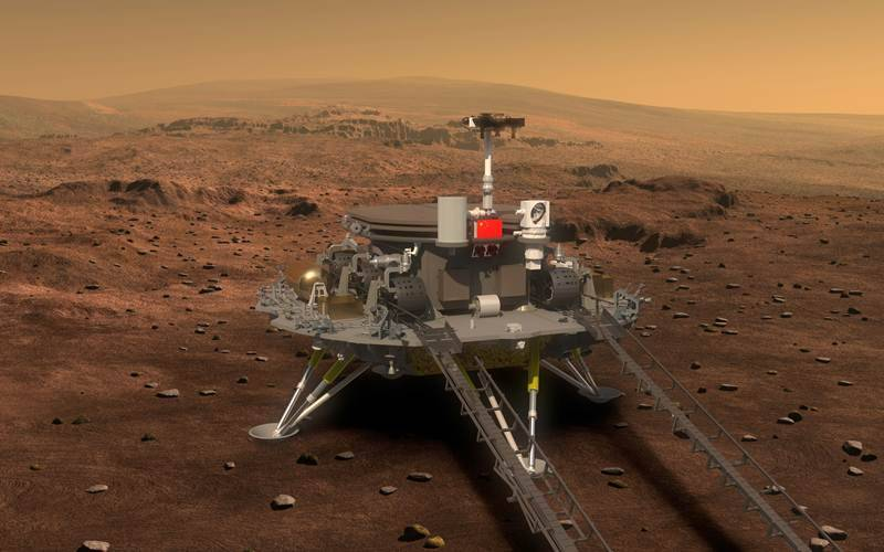 China has showed off its first images of a rover it plans to send to Mars in mid-2020 (Source: AP)