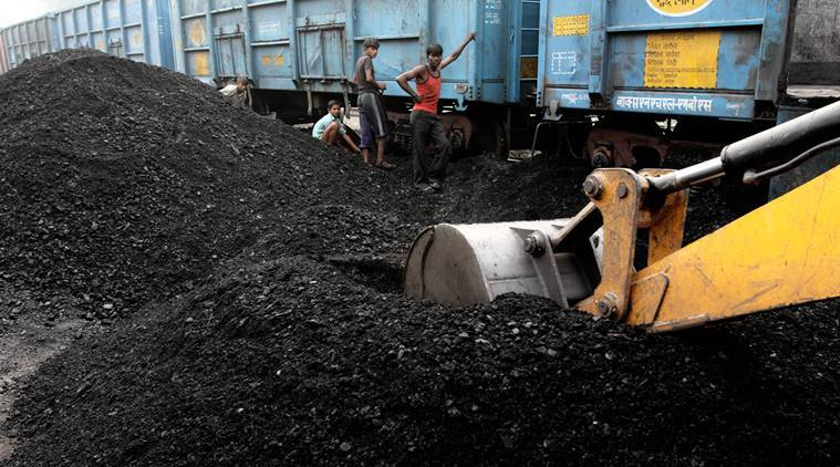 Child labourers works at the Katra railway station to unload the coal from the train in Gonda (UP) on Nov 11th 2012. Express photo by RAVI KANOJIA.