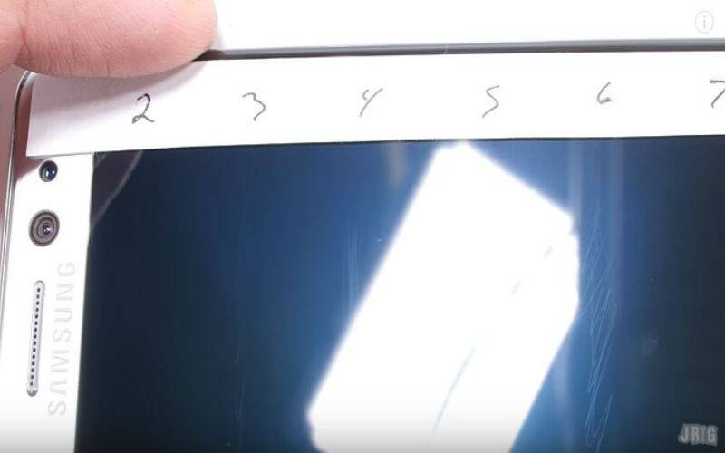 Samsung Galaxy Note 7 with Gorilla Glass 5 durability test video shows it to be easily scratchable than Galaxy S7 edge (Source: JerryRigEverything/YouTube)