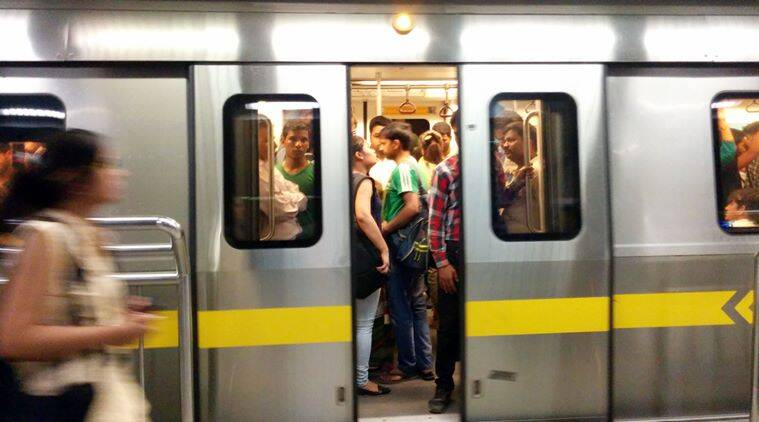 Delhi metro observed more commuters during the second phase of odd-even scheme. Express photo by Cheena Kapoor 180416