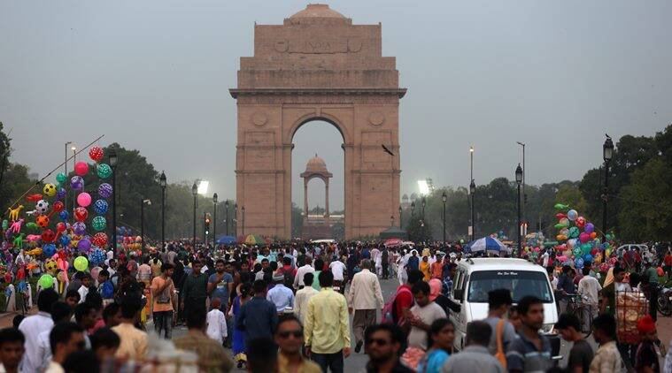 People gather near India Gate after Eid celebrations on Thursday. Express Photo by Amit Mehra. 07.07.2016.  *** Local Caption *** People gather near India Gate after Eid celebrations on Thursday. Express Photo by Amit Mehra. 07.07.2016.