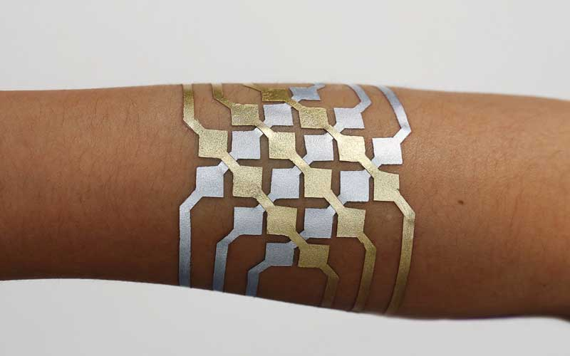 DuoSkin, DuoSkin tattoo, DuoSkin wearable, MIT and Microsoft Research, MIT labs skin wearable, Tattoo to control smartphone, Microsoft Research