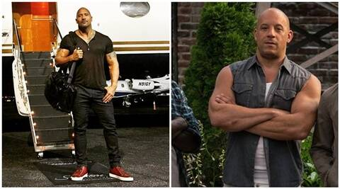 dwayne johnson omits vin diesel from fast 8 wrap up tweet the indian express. Black Bedroom Furniture Sets. Home Design Ideas