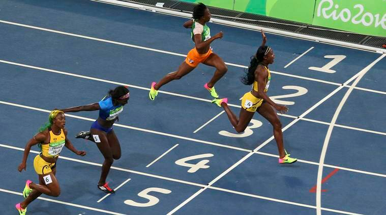 Elaine Thompson, Elaine Thompson women's gold, Elaine Thompson twitter reactions, Elaine Thompson Olympic gold, Elaine Thompson women's 100m final, women's 100m final, Shelly-Ann Fraser-Pryce, Rio 2016 Olympics, Rio 2016, Rio, Olympics, 100m race
