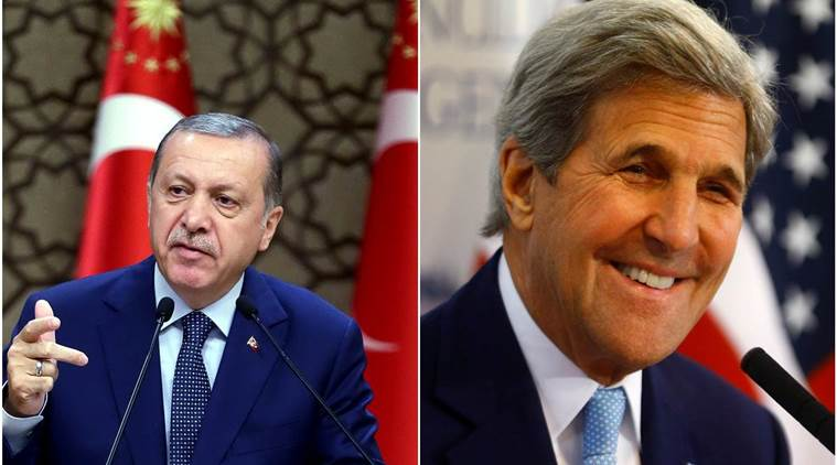 turkey, turkey president, recep tayyip erdogan, john kerry, us secretary of state, us turkey, us turkey relations, us turkey tensions, us news, turkey news, world news, latest news