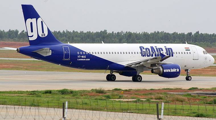 goair, goair flight, Mumbai, Mumbai-bound flight, goair flight emergency landing, emergency landing flight, goair flight, indian express